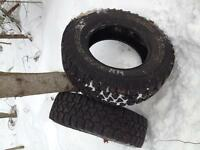 TWO PAIRS OF SNOW TIRES