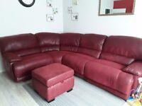 Red sofa corner Harveys