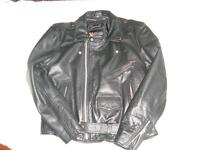 Heavy Leather Men's jacket Large Size asking 50 dollars