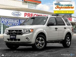 2011 Ford Escape XLT>>>V6, LEATHER, SUNROOF, AWD<<<