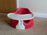 Bumbo Baby Seat With Tray In Red