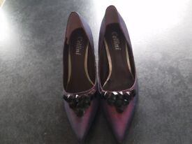 Worn Purple satin shoes size 5