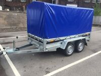Car trailer twin axle 8ft x 4ft 2.63m x 1.25m 750kg + Top cover