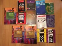 LLB 1st year Law books Contract, Tort, Legal Methods, Public Law