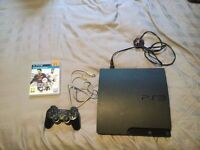 Sony Play Station 3 Slimline 120Gb In GOOD Condition With a few Games and Controller