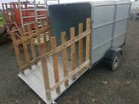 6x4 braked livestock trailer chequered floor