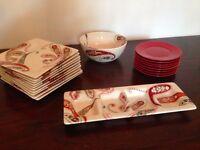 Paisley Dinnerware set REDUCED! Need gone!