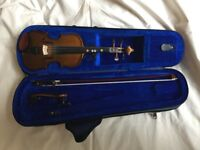 Stentor violin, 1/4 student 1 with case