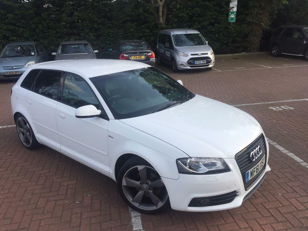 2011 61 ibis white audi a3 s line black edition 2 0 tdi manual 147k bose led pack. Black Bedroom Furniture Sets. Home Design Ideas
