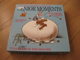SENIOR MOMENTS GAME - IMMACULATE CONDITION - all complete REDUCED AGAIN NOW ONLY £1.50 BARGAIN PRICE