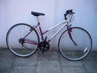 Women's Hybrid/ Commuter Bike by Raleigh, Burgundy & Silver, New Brakes, JUST SERVICED/ CHEAP PRICE!