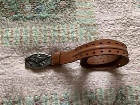FOR SALE GENTS LEVI BELT AND BELT BUCKLE