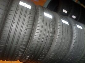 4x 215 55 18 95H Continental Premium Contact 2 Like New Tread