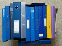 25 USED RING BINDER A4 FILES