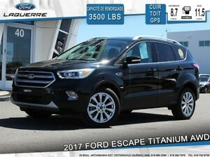 2017 Ford Escape TITANIUM**AWD*CUIR*TOIT*GPS*CAMERA*BLUETOOTH**