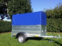 New Trailer cars (6' x 4' x 2,17) double broadside and cover 80cm- £750 inc vat