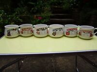 Variety of crockery and 6 soup bowls