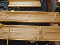 7 wooden blinds