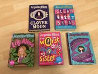 5 x Jacqueline Wilson Hardback Books REDUCED