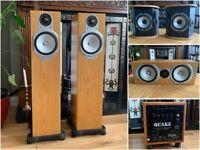Monitor Audio 5.1 Speakers inc Rel Quake Subwoofer