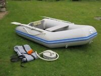 WavEco 2.3m Inflatable dinghy/tender slatted floor and solid transom.