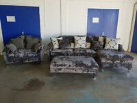 BRAND NEW / EX DISPLAY FABB SOFAS HEADLINE SUITE 3 SEATER CORNER SOFA, CUDDLE CHAIR AND FOOTSTOOL