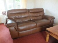 3-piece leather suite