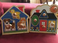 Melissa and Doug wooden baby puzzles