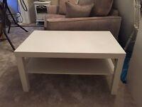 IKEA white table.