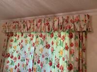 Curtains - draw string closure with pelmet