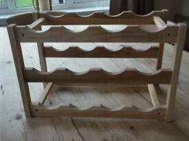 wooden 12 bottle wine rack
