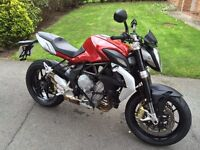 STUNNING MV Brutale 800, Ultra Low Miles! Hardly used and in showroom condition.