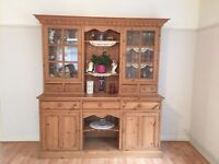 Traditional hand made solid pine farmhouse dresser hand waxed finish