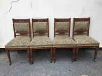 Set of 4 Victorian dining chairs