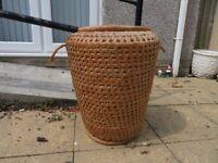 Vintage Alibaba Linen Basket