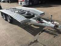 Brand new Recovery trailer - car transporter 4 x 2 straps, winch spare wheel, heavy duty ramps