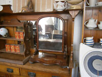 VICTORIAN DRESSING MIRROR TABLE TOP MIRROR WITH TRINKET BOX IN YEOVIL
