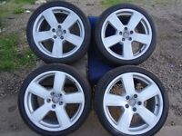 """4 sets of 18"""" audi alloys all with good tyres RS6, TSW s RS4s r32 plus more (opn 7 dasys 6pm)"""