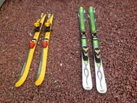 Sets of Kids Skis and Equipment