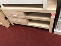 2 side drawer TV unit