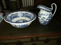 ANTIQUE WEDGWOOD WASH BOWL AND JUG c1920's