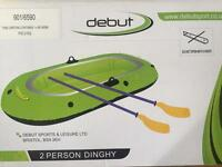 Debut 2 person dinghy unused