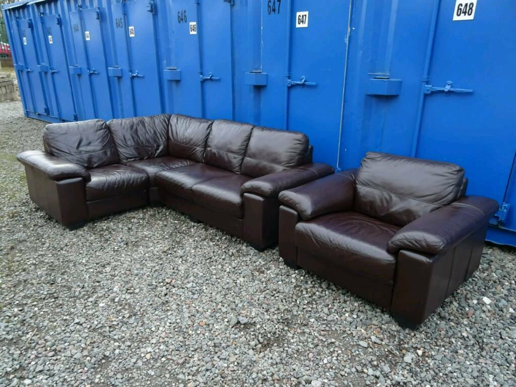 Incredible Dfs Linea Leather Corner Sofa Matching Armchair Excellent Condition In Stoke On Trent Staffordshire Gumtree Squirreltailoven Fun Painted Chair Ideas Images Squirreltailovenorg