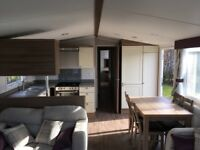 Prestige 3 Bedroom Caravan with Decking to for Hire at Haggerston Castle