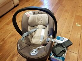 Mamas and Papas Aton Infant car seat with pushchair adaptors