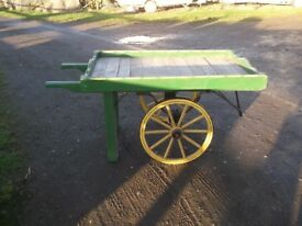 Wooden Handcart - Antique