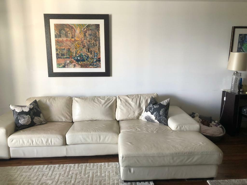 - Contemporary Leather Sofa £100 In Fulham, London Gumtree