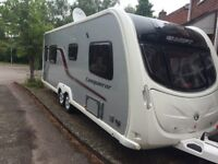Swift Conqueror 645 twin axle with all equipment including satellite dish solar panel motor mover.