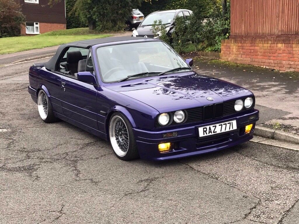 1988 Bmw E30 320i Convertible M Tec2 Hpi Clear Classic Modified Stanced In High Wycombe