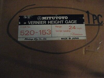 Mitutoyo 520-153 24 Vernier Height Gage Aa8380-4242